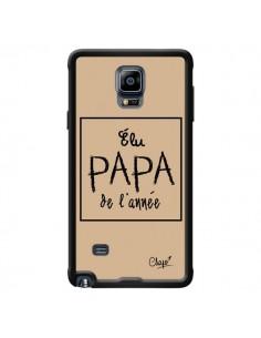 Coque Elu Papa de l'Année Beige pour Samsung Galaxy Note 4 - Chapo