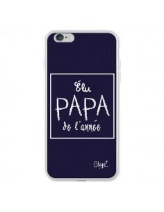Coque iPhone 6 Plus et 6S Plus Elu Papa de l'Année Bleu Marine - Chapo