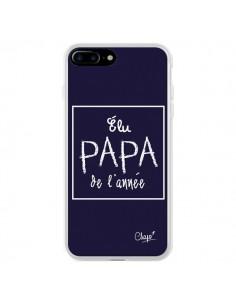 Coque iPhone 7 Plus et 8 Plus Elu Papa de l'Année Bleu Marine - Chapo