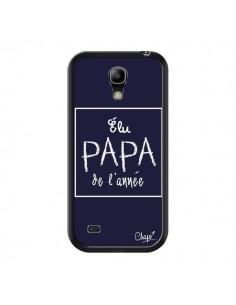 Coque Elu Papa de l'Année Bleu Marine pour Samsung Galaxy S4 Mini - Chapo