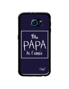 Coque Elu Papa de l'Année Bleu Marine pour Samsung Galaxy S6 - Chapo