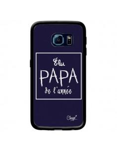 Coque Elu Papa de l'Année Bleu Marine pour Samsung Galaxy S6 Edge - Chapo