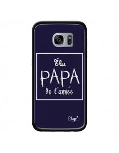 Coque Elu Papa de l'Année Bleu Marine pour Samsung Galaxy S7 - Chapo