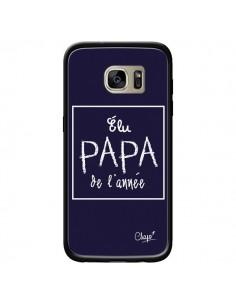Coque Elu Papa de l'Année Bleu Marine pour Samsung Galaxy S7 Edge - Chapo