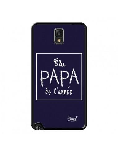 Coque Elu Papa de l'Année Bleu Marine pour Samsung Galaxy Note III - Chapo