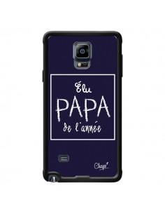 Coque Elu Papa de l'Année Bleu Marine pour Samsung Galaxy Note 4 - Chapo