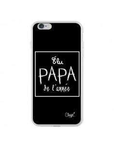 Coque iPhone 6 Plus et 6S Plus Elu Papa de l'Année Noir - Chapo