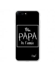 Coque iPhone 7 Plus et 8 Plus Elu Papa de l'Année Noir - Chapo