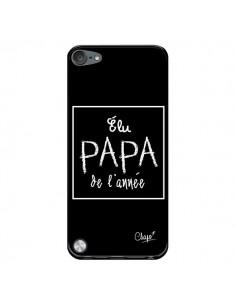 Coque Elu Papa de l'Année Noir pour iPod Touch 5/6 et 7 - Chapo