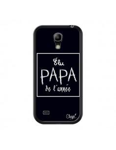 Coque Elu Papa de l'Année Noir pour Samsung Galaxy S4 Mini - Chapo