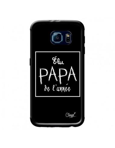 Coque Elu Papa de l'Année Noir pour Samsung Galaxy S6 - Chapo