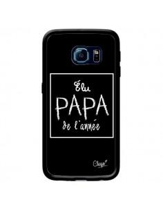 Coque Elu Papa de l'Année Noir pour Samsung Galaxy S6 Edge - Chapo
