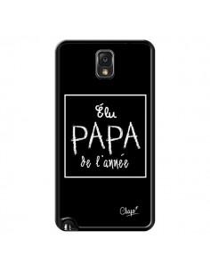 Coque Elu Papa de l'Année Noir pour Samsung Galaxy Note III - Chapo