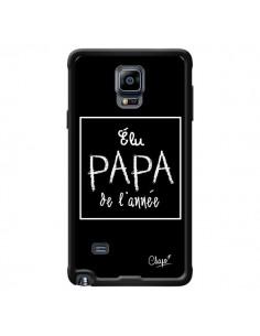 Coque Elu Papa de l'Année Noir pour Samsung Galaxy Note 4 - Chapo