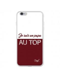 Coque iPhone 6 Plus et 6S Plus Je suis un Papa au Top Rouge Bordeaux - Chapo