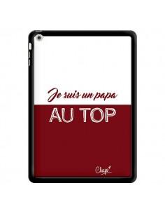 Coque Je suis un Papa au Top Rouge Bordeaux pour iPad Air - Chapo