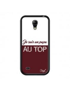 Coque Je suis un Papa au Top Rouge Bordeaux pour Samsung Galaxy S4 Mini - Chapo