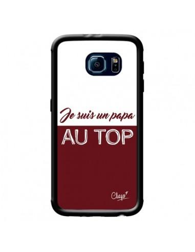 Coque Je suis un Papa au Top Rouge Bordeaux pour Samsung Galaxy S6 - Chapo