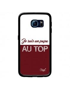 Coque Je suis un Papa au Top Rouge Bordeaux pour Samsung Galaxy S6 Edge - Chapo