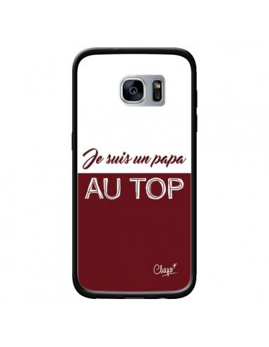 Coque Je suis un Papa au Top Rouge Bordeaux pour Samsung Galaxy S7 - Chapo