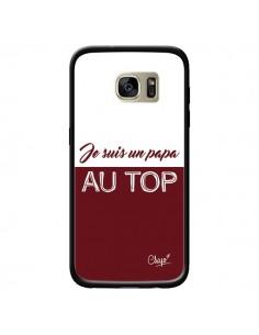 Coque Je suis un Papa au Top Rouge Bordeaux pour Samsung Galaxy S7 Edge - Chapo