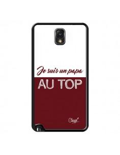 Coque Je suis un Papa au Top Rouge Bordeaux pour Samsung Galaxy Note III - Chapo