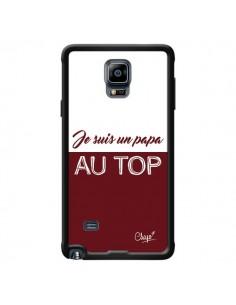 Coque Je suis un Papa au Top Rouge Bordeaux pour Samsung Galaxy Note 4 - Chapo