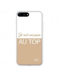 Coque Je suis un Papa au Top Beige pour iPhone 7 Plus - Chapo