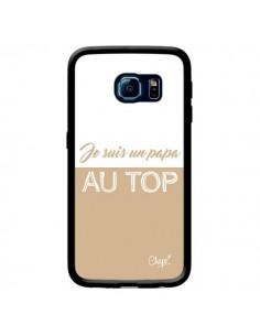 Coque Je suis un Papa au Top Beige pour Samsung Galaxy S6 Edge - Chapo