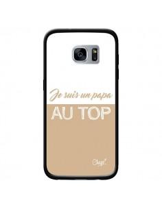 Coque Je suis un Papa au Top Beige pour Samsung Galaxy S7 - Chapo