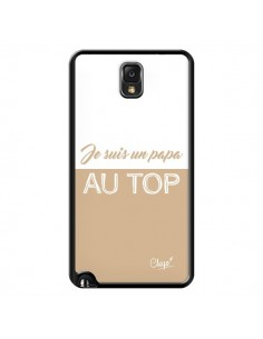 Coque Je suis un Papa au Top Beige pour Samsung Galaxy Note III - Chapo