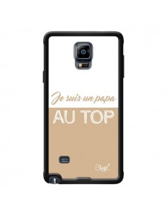 Coque Je suis un Papa au Top Beige pour Samsung Galaxy Note 4 - Chapo
