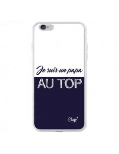 Coque Je suis un Papa au Top Bleu Marine pour iPhone 6 Plus et 6S Plus - Chapo