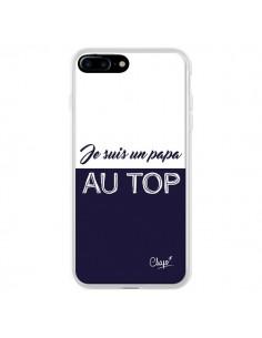 Coque Je suis un Papa au Top Bleu Marine pour iPhone 7 Plus - Chapo
