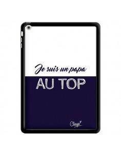 Coque Je suis un Papa au Top Bleu Marine pour iPad Air - Chapo