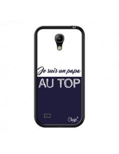 Coque Je suis un Papa au Top Bleu Marine pour Samsung Galaxy S4 Mini - Chapo