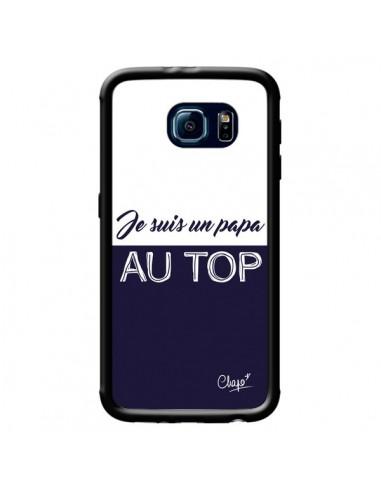 Coque Je suis un Papa au Top Bleu Marine pour Samsung Galaxy S6 - Chapo