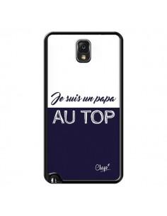 Coque Je suis un Papa au Top Bleu Marine pour Samsung Galaxy Note III - Chapo