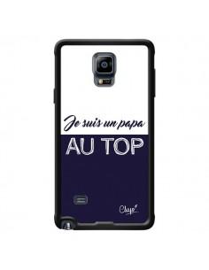 Coque Je suis un Papa au Top Bleu Marine pour Samsung Galaxy Note 4 - Chapo
