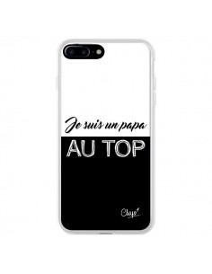 Coque Je suis un Papa au Top Noir pour iPhone 7 Plus - Chapo
