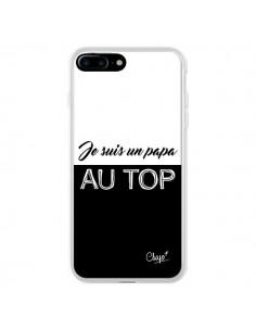 Coque Je suis un Papa au Top Noir pour iPhone 7 Plus et 8 Plus - Chapo