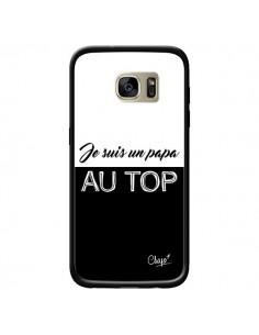 Coque Je suis un Papa au Top Noir pour Samsung Galaxy S7 Edge - Chapo