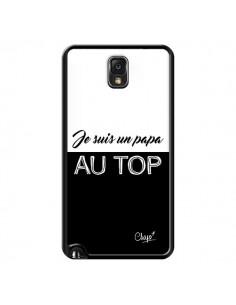 Coque Je suis un Papa au Top Noir pour Samsung Galaxy Note III - Chapo