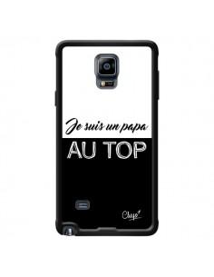 Coque Je suis un Papa au Top Noir pour Samsung Galaxy Note 4 - Chapo
