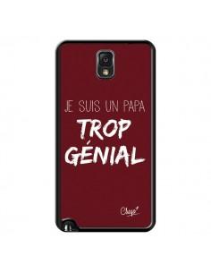Coque Je suis un Papa trop Génial Rouge Bordeaux pour Samsung Galaxy Note III - Chapo