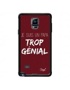Coque Je suis un Papa trop Génial Rouge Bordeaux pour Samsung Galaxy Note 4 - Chapo