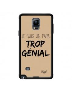 Coque Je suis un Papa trop Génial Beige pour Samsung Galaxy Note 4 - Chapo