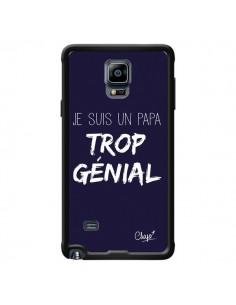 Coque Je suis un Papa trop Génial Bleu Marine pour Samsung Galaxy Note 4 - Chapo