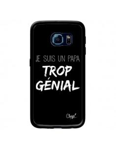 Coque Je suis un Papa trop Génial Noir pour Samsung Galaxy S6 Edge - Chapo