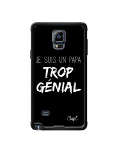 Coque Je suis un Papa trop Génial Noir pour Samsung Galaxy Note 4 - Chapo